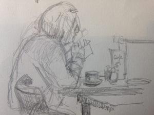 Zeichnung Cafehaus