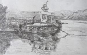 Fischerboot Zeichnung