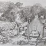 Zeichnung Haus und Hof