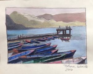 Boote in Pokhara, Nepal
